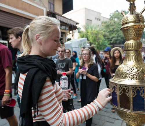 International students visit Old Cairo and El Moez Street